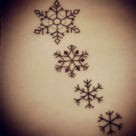 snowflakes tattoo designs 30 snowflake ideas for tattoolot