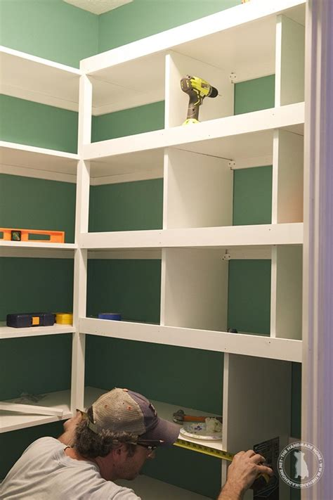 How To Build Pantry Shelves by Pantry Makeover The Handmade Home