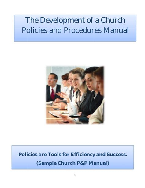 Policy And Procedure Manual Church Sle Church Security Manual Template