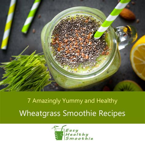 7 Smoothie Recipes by Wheatgrass Smoothies Recipes 7 And Healthy Shakes