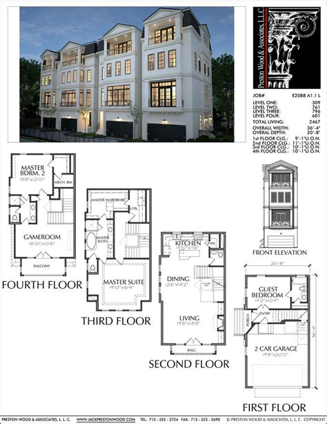Town House Plan by 102 Best Images About Townhouse Floor Plans On