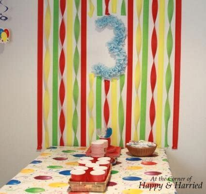 Decorating Ideas With Crepe Paper Streamers Boy Birthday Party Decorations