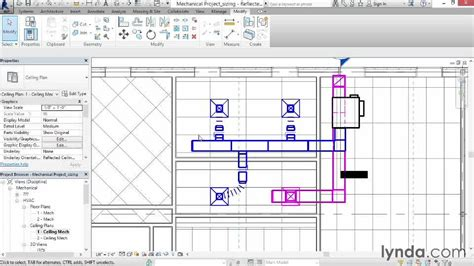 revit conduit tutorial sizing duct from the course revit mep 2014 essential training