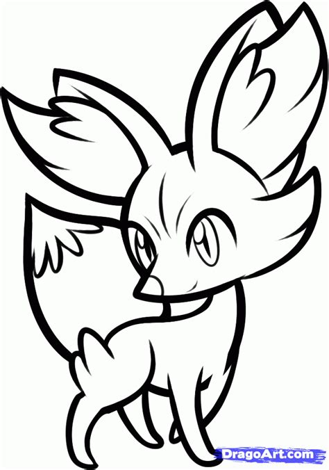 pokemon coloring pages x and y new pokemon coloring pages x and y how to draw fennekin