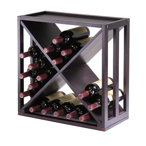 home wine storage amazon com winsome wood kingston quot x quot design wine storage