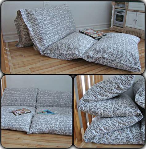 pouf et coussin de sol les 25 meilleures id 233 es de la cat 233 gorie matelas oreillers sur cadeaux faits maison