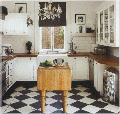 Black And White Kitchen Floor Black White Kitchen Floors Being Brazen