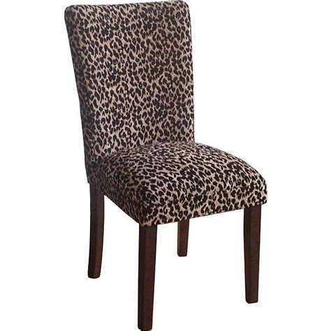 chic leopard animal print dining living room seat set