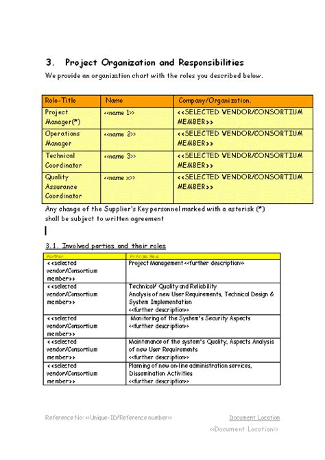 project management policy template all templates project plan template