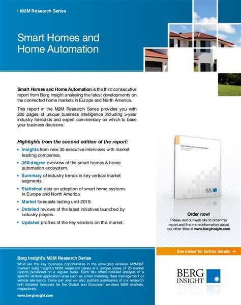 smart homes and home automation market research
