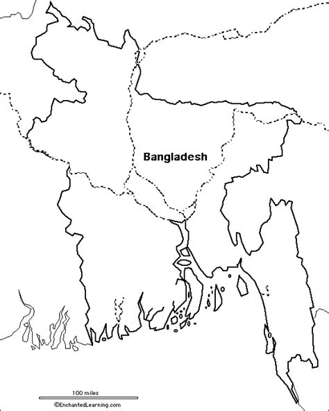 Coloring Page Of Bangladesh Map | outline map research activity 3 bangladesh