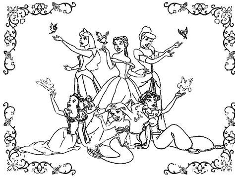 disney princesses coloring page az coloring pages
