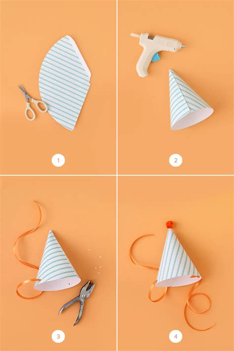 How To Make Birthday Hats Out Of Paper - diy hats with printable julep