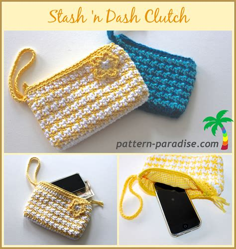 crochet pattern stash bag stash n dash clutch free crochet pattern from pattern