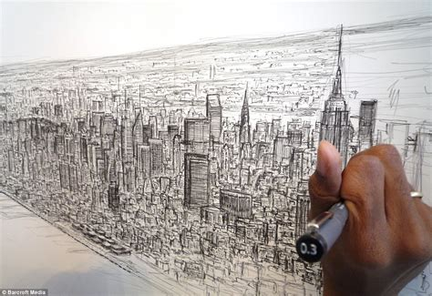 carl a in paint how one with asperger s found his place in the world through books autistic artist draws 18ft picture of new york skyline