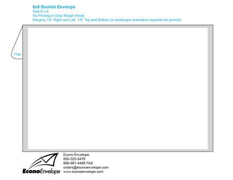 Envelope Template Downloads 6 X 9 Booklet Envelope Template