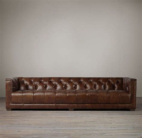 Savoy Sofa From Restoration Hardware In Distressed Ebony Restored Chesterfield Sofa