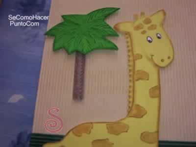 jirafa en goma eva auto design tech cuadro de jirafas para nios auto design tech