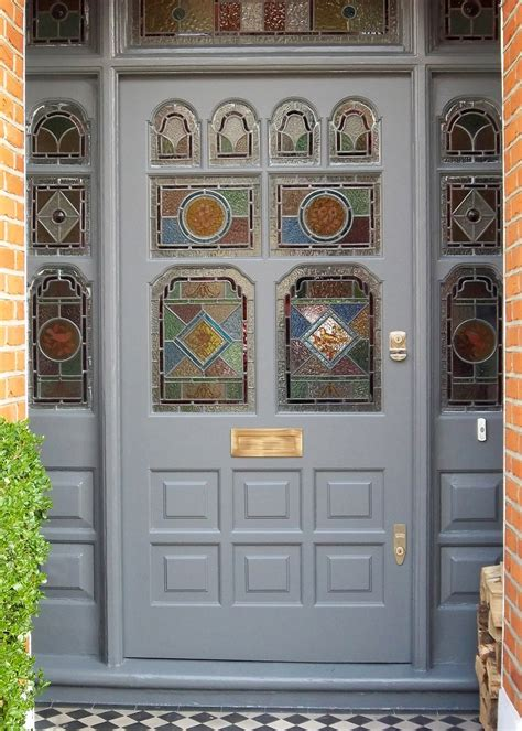 victorian stained glass front door victorian door with real leaded glass 6 victorian