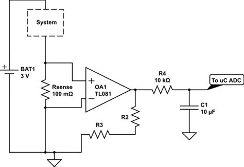 typical shunt resistor values microcontroller measuring average current consumption in hardware electrical engineering