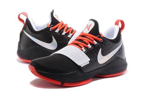 Pg1 Whiteblack nike pg 1 black white s basketball shoes hoop