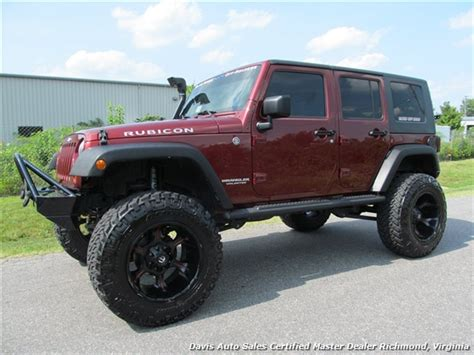 maroon jeep wrangler 4 door 2008 jeep wrangler unlimited rubicon