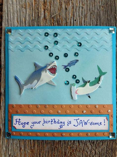 Shark  Ee  Birthday Ee   Card Shark Card For Boys  Ee  Birthday Ee   Fish