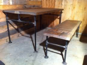 Iron Pipe Furniture Custom Made Industrial Cast Iron Pipe Douglas Fir Dining