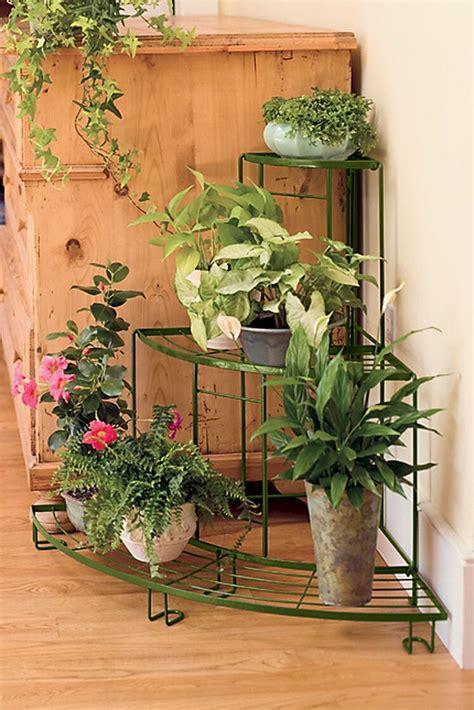 quarter  plant terrace corner plant stand
