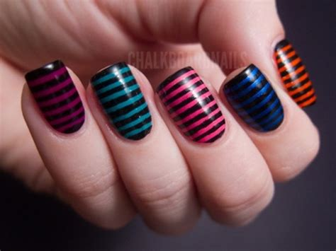 easy nail art stripes 30 simple and easy nail art ideas