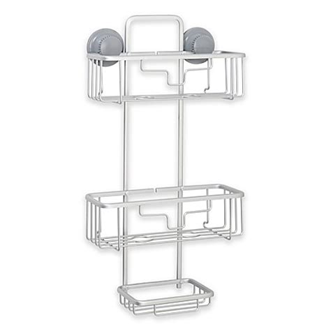 shower caddy bed bath and beyond titan 174 powergrip neverrust 174 suction two tier shower caddy