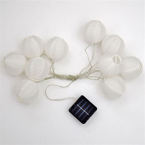 Solar Powered Light String Led Solar Powered White Lantern String Lights