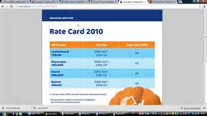 rate card template rate card template 28 images agency rate card template