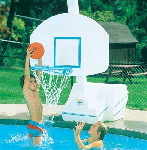 slam dunk pool basketball game set outdoor living