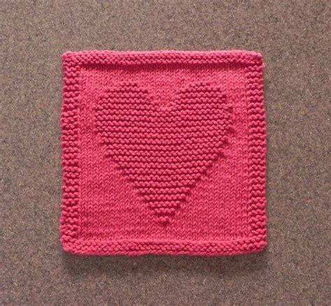 heart pattern dishcloth pin by danel berg on i m a knit wit pinterest