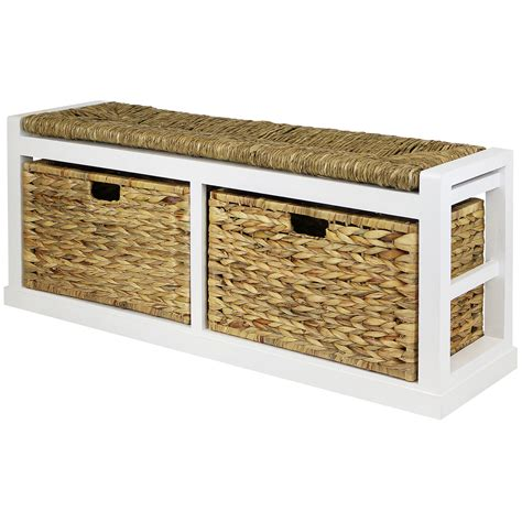 wicker bench seat sale hartleys wide 2 drawer bench wicker seat cushion basket damaged 071 ebay