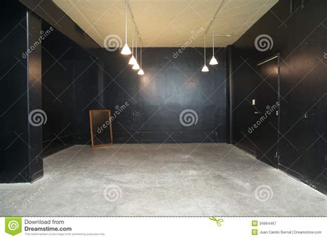room painted black empty conference room painted in black royalty free stock