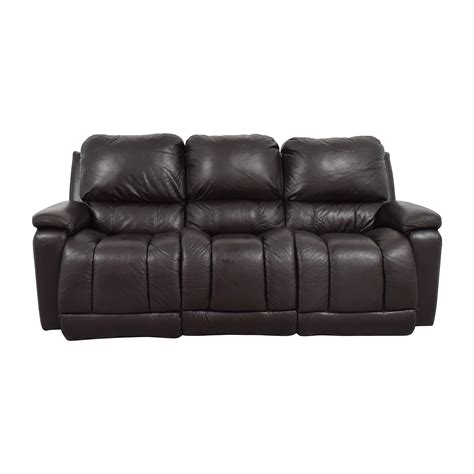 la z boy leather sofa 77 off la z boy la z boy brown leather reclining sofa