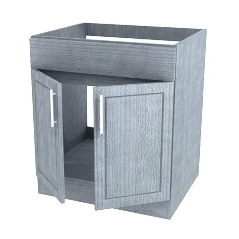Outdoor Sink Cabinet by Weatherstrong Assembled 24x34 5x24 In Palm Open
