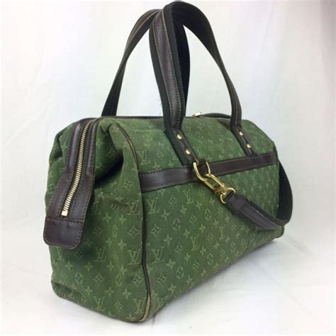 louis vuitton josephine mini lin monogram gm handbag green