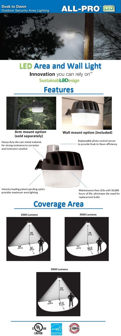 all pro led dusk to security light all pro bronze outdoor led area and wall dusk to