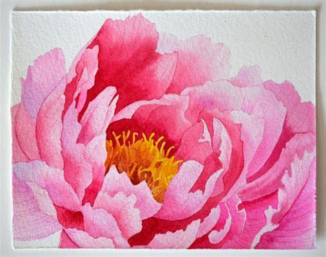 Watercolor Tutorial Peony | pink peony original watercolor painting beautiful pink
