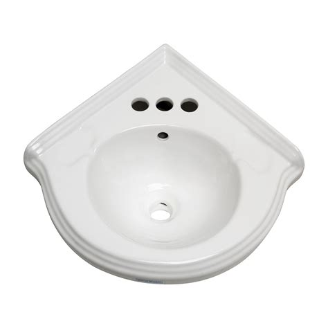 small bathroom wall mount sink corner wall mount small bathroom sink white ceramic vitreous china quot portsmouth quot