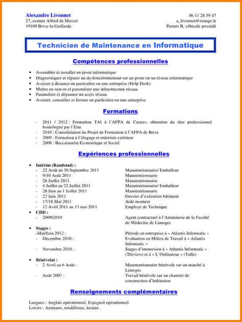 Exemple De Lettre De Motivation Manutentionnaire 12 Cv Manutentionnaire Modele Lettre
