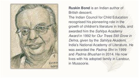 ruskin bond biography in english ruskin bond