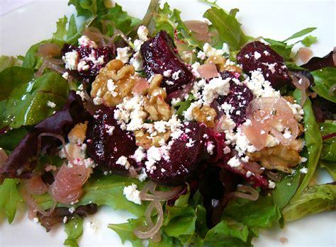 roasted beet salad with walnuts and feta the seasonal gourmet
