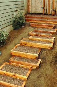 patio steps wood outdoor stairs here are some outdoor wood framed c