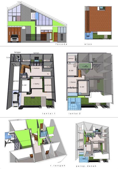 desain rumah praktek dokter denah new desain rumah tinggal dokter