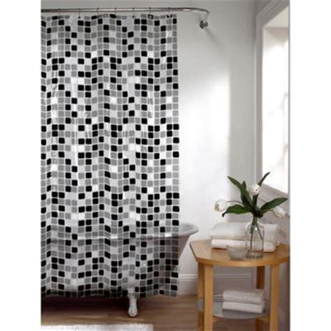 black and white shower curtain set buy tiles shower curtain shower curtains from bed bath