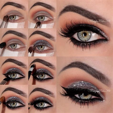 tutorial eyeshadow smokey eyes sparkling silver smokey eye makeup tutorial i love cute